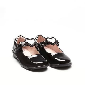 Picture of Lelli Kelly 'Colourissima' Heart School Shoes