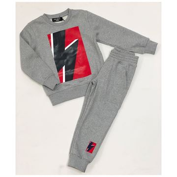 Picture of Neil Barret Boys Grey 2 Piece Tracksuit