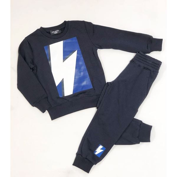 Picture of Neil Barrett Boys Navy 2 Piece Tracksuit