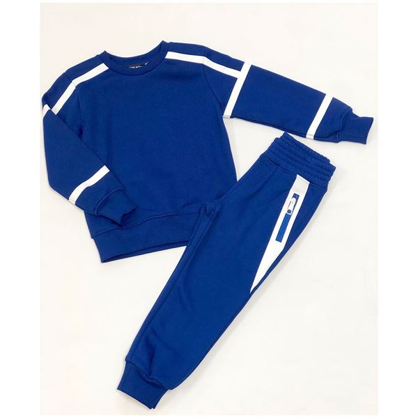 Picture of Neil Barrett Boys Royal Blue 2 Piece Tracksuit