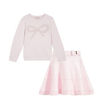 Picture of Lili Gaufrette Pink Jumper & Skirt
