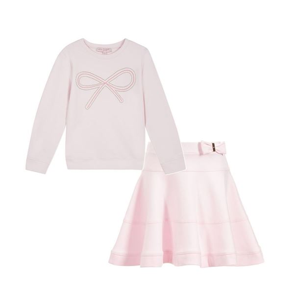 Picture of Lili Gaufrette Pink Jumper & Skirt
