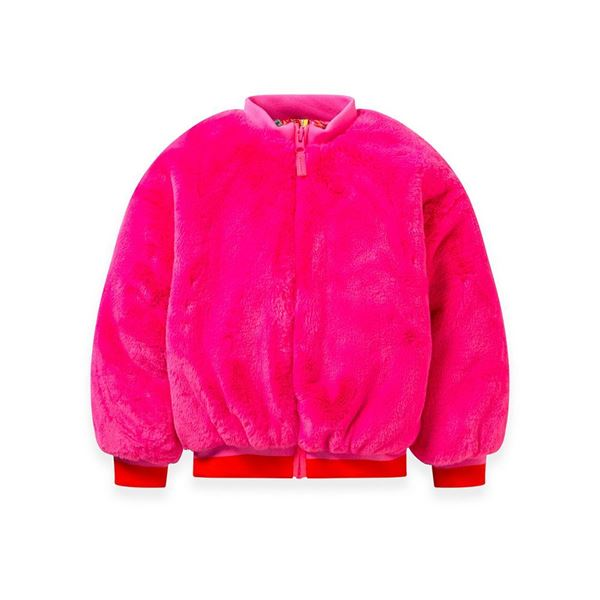 Picture of Oilily Girls 'Cairy' Pink Faux Fur Jacket