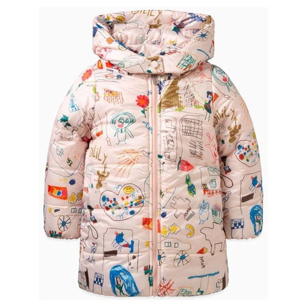 Picture of Oilily Girls 'Cheddar' Pink Printed Coat