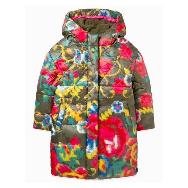 Picture of Oilily Girls 'Caneel' Mosaic Flower Print Coat