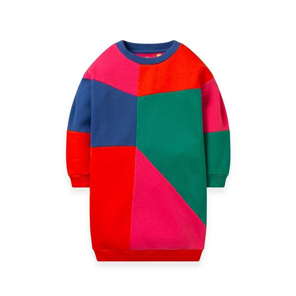 Picture of Oilily Girls 'Herrie' Multi Coloured Jumper Dress