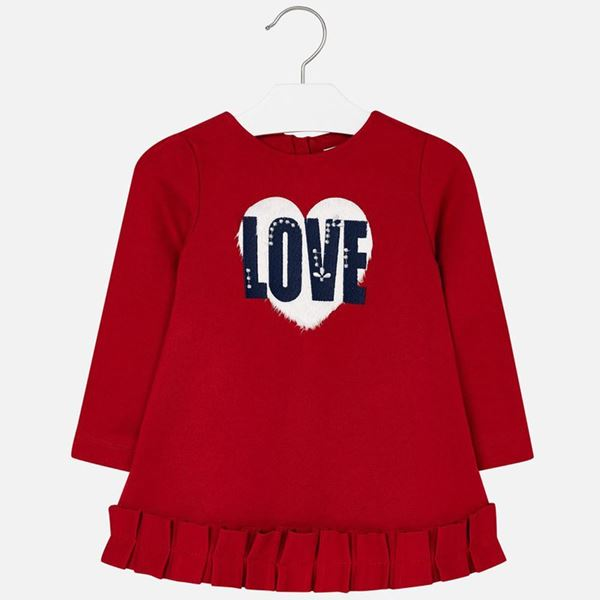 Picture of Mayoral Girls Red 'Love' Dress