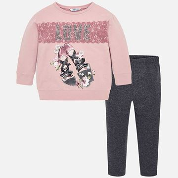Picture of Mayoral Girls Grey & Pink Leggings Set