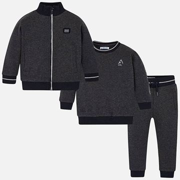 Picture of Mayoral Boys Grey 3 Piece Tracksuit