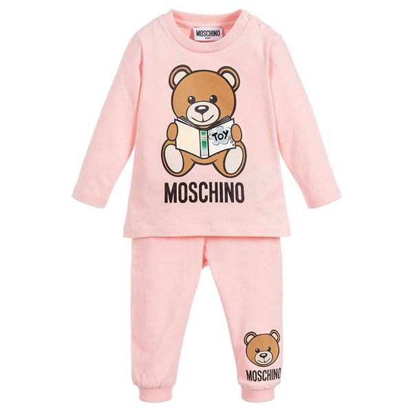 Picture of Moschino Baby Girls Pink Teddy Leggings Set
