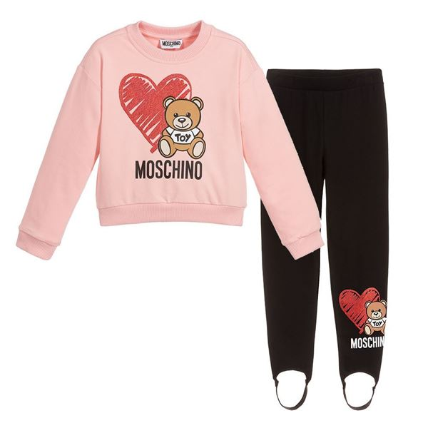 Picture of Moschino Girls Pink Jumper & Black Leggings Set