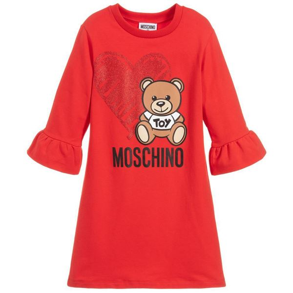 Picture of Moschino Girls Red Teddy Dress
