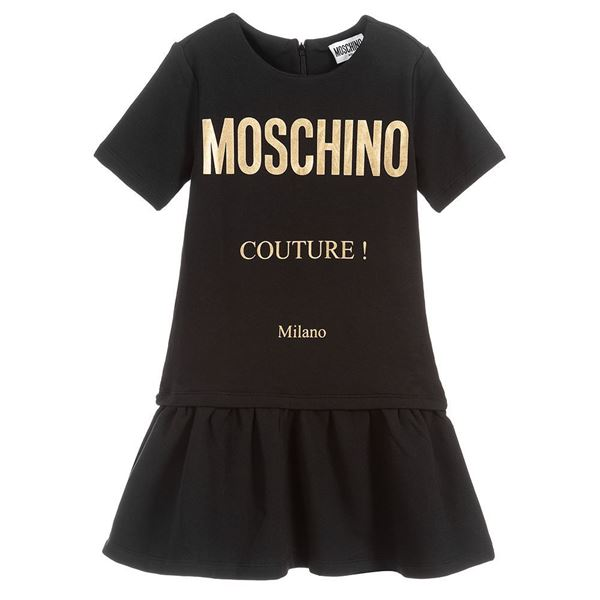 Picture of Moschino Girls Black 'Couture' Dress