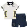 Picture of Mitch & Son 2 Piece Navy Polo Short Set