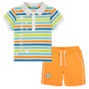 Picture of Mitch & Son 2 Piece Striped Polo Set