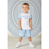Picture of Mitch & Son White T-shirt & Short Set