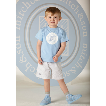 Picture of Mitch & Son Blue T-Shirt & Short Set