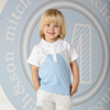 Picture of MItch & Son Grey & Blue Polo Top