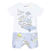 Picture of Kenzo Baby Boy Pale Blue Romper With Animals