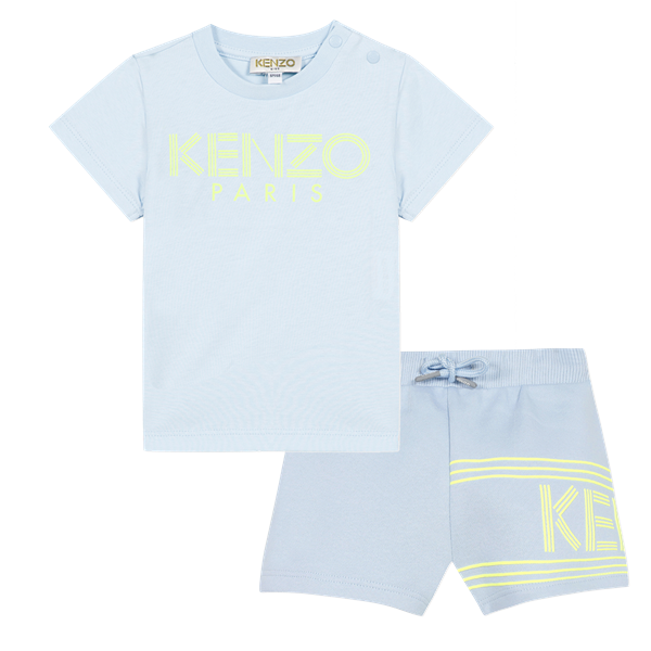 Picture of Kenzo Baby Boy Pale Blue Short Set