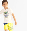 Picture of Kenzo Boys 2 Piece Yellow Swimset