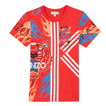 Picture of Kenzo Boys Red Dragon & Tiger T-Shirt