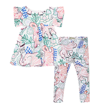 Picture of Kenzo Baby Girls Printed 2 Piece Legging Set