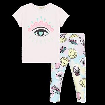 Picture of Kenzo Baby Girl Eye Printed Leggings Set
