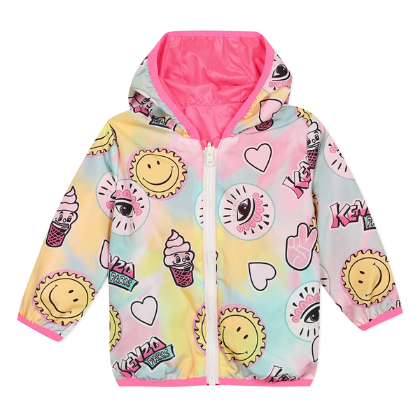 Picture of Kenzo Baby Girls Reversible Printed Jacket