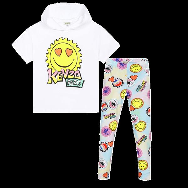 Picture of Kenzo Girls Emoji Printed 2 Piece Leggings Set