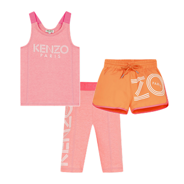 Picture of Kenzo Girls 3 Piece Gym Short Set