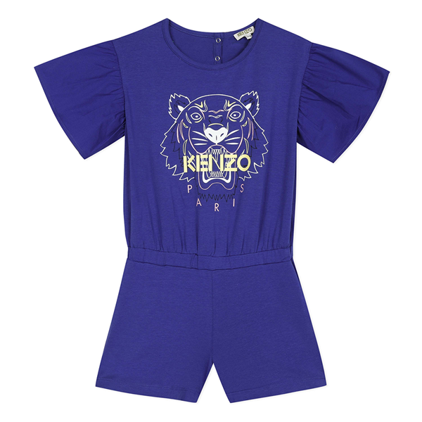 Picture of Kenzo Girls Blue Tiger Jumpsuit