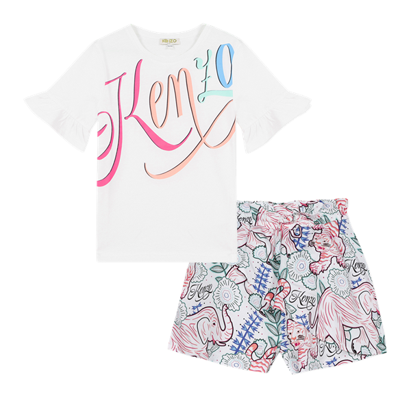 Picture of Kenzo Girls Printed 2 Piece Short Set