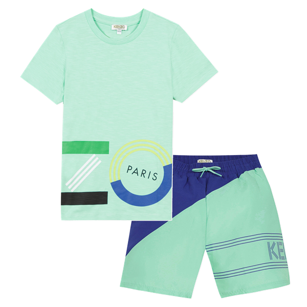 Picture of Kenzo Boys 2 Piece Mint Swimset