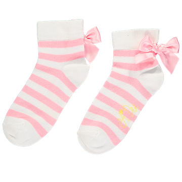 Picture of Ariana Dee Pink Stripe Ankle Socks
