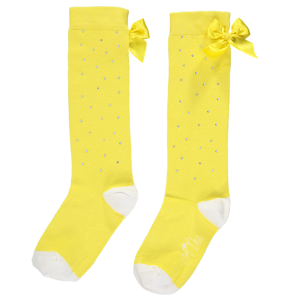 Picture of Ariana Dee Yellow Sparkle Knee Socks