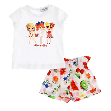 Picture of Monnalisa Baby Fruit Short Set