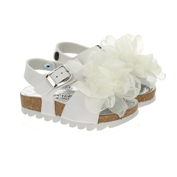 Picture of Monnalisa Girls White Sandals