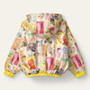 Picture of Oilily Girls 'Circle' Reversible Yellow Printed Jacket