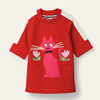 Picture of Oilily Girls 'Huis' Red Jumper Dress With Cat & Flowers