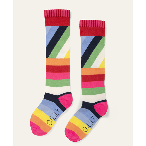 Picture of Oilily Girls 'Madrid' Blue Print Knee Socks