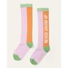 Picture of Oililys Girls 'Mokum' Pink Print Knee Socks