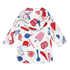 Picture of Catimini Baby Girl Red & Blue Printed Mac