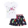 Picture of Catimini Baby Girls Navy Top & Printed Skirt