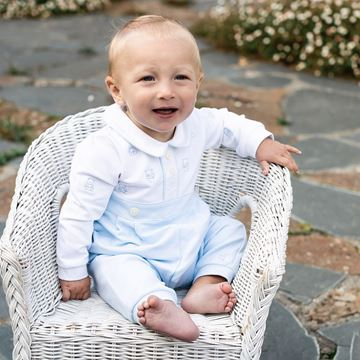 Picture of Emile Et Rose 'Saxon' Pale Blue Romper