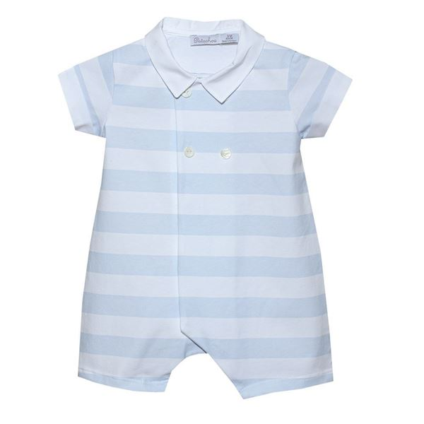 Picture of Patachou Baby Boys Blue Stripe Romper