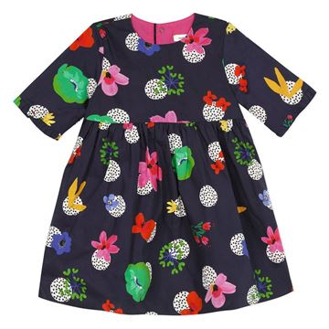 Picture of Catimini Baby Girls Navy Printed Dress
