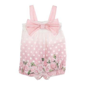 Picture of Monnalisa Baby Dumbo Pink Romper With Bow