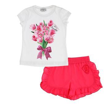 Picture of Monnalisa Girls Pink Tulip Short Set