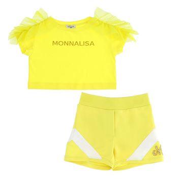 Picture of Monnalisa Girls Yellow Short Set